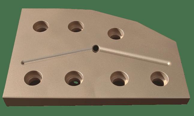 Plaque d'usure à forte absorption de pression créée par concept metal