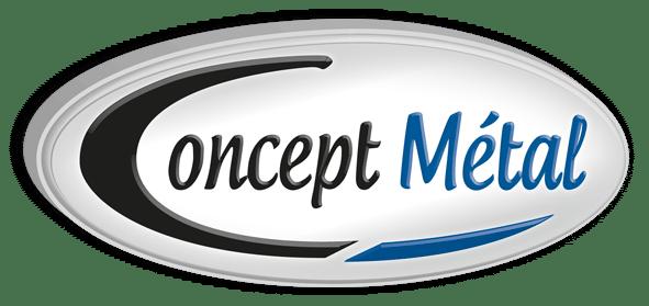 logo concept metal - spécialiste en métaux non ferreux et métaux spéciaux