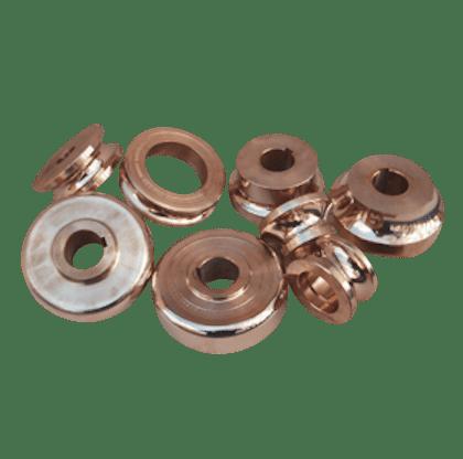 Rouleaux à mouliner en cupro nickel