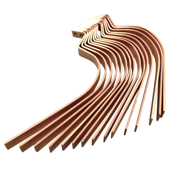 Doigts de contact avec pliage complexe - Alliage de cuivre